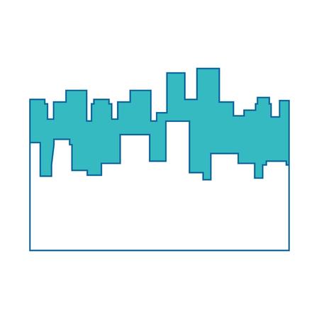 흰색 배경 위에 도시 도시 아이콘의 실루엣 화려한 디자인 벡터 일러스트 레이 션