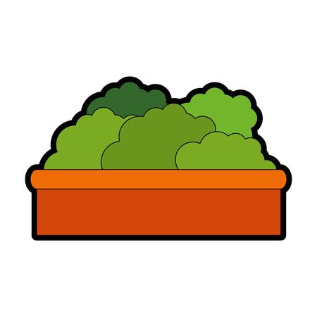plant in a pot  icon over white background colorful design vector illustration Reklamní fotografie