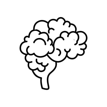 Brain icon over white background vector illustration Ilustração