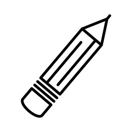 pencil utensil icon over white background vector illustration Çizim