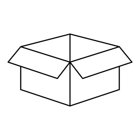 白い背景のベクトル図にカートン ボックス アイコン