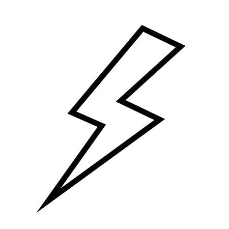 thunder icon over white background vector illustration
