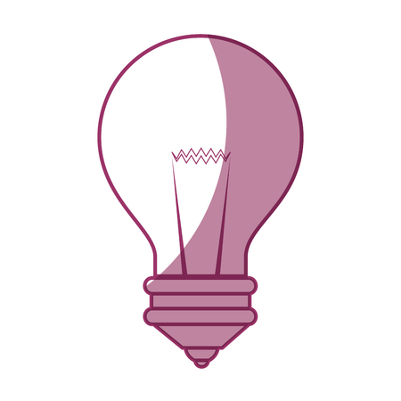light bulb icon over white background vector illustration Иллюстрация