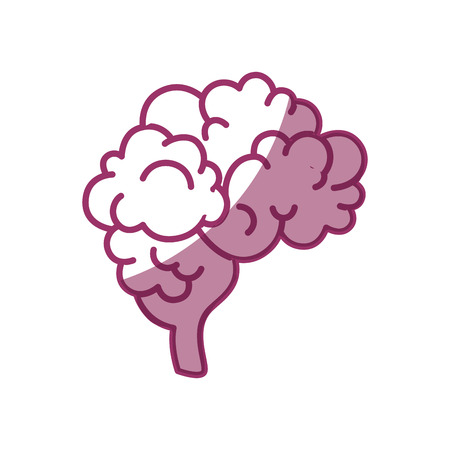 human Brain icon over white background vector illustration