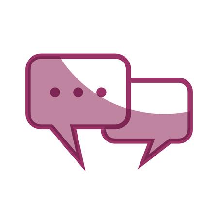 Spraakbellen icoon over witte achtergrond vector illustratie