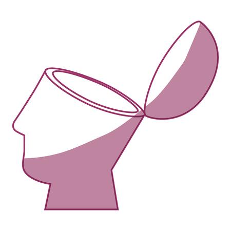 Icona della testa umana su sfondo bianco illustrazione vettoriale Archivio Fotografico - 80861166