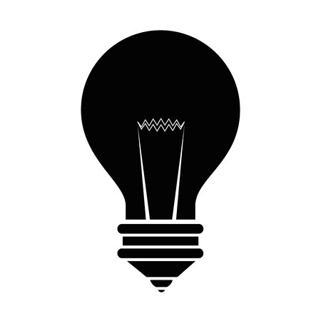 light bulb icon over white background vector illustration Ilustrace