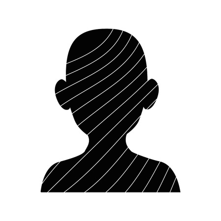 silhouette of man with stripes icon over white background vector illustration Illusztráció