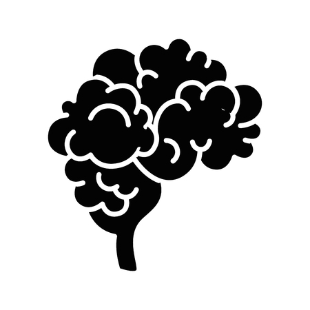 human Brain icon over white background vector illustration
