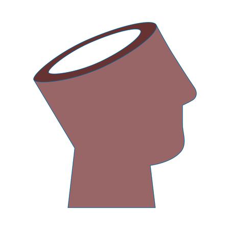 menselijk hoofd pictogram over witte achtergrond vectorillustratie