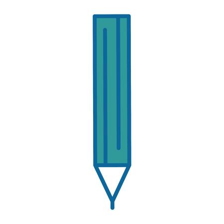 pencil icon over white background vector illustration