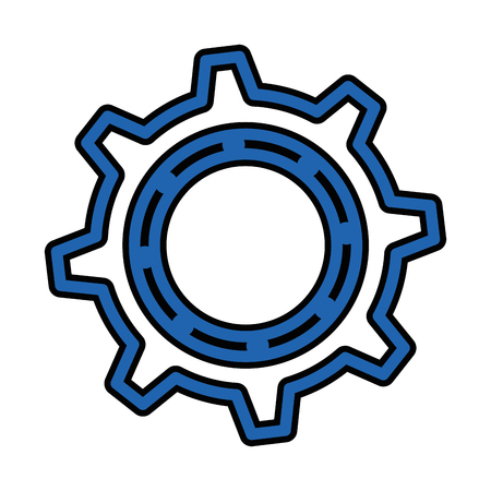 Gear wheel icon over white background colorful design vector illustration Stock Vector - 80872571