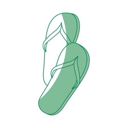 Sandals icon over white background vector illustration Çizim
