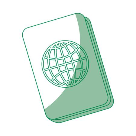 Passport icon over white background vector illustration