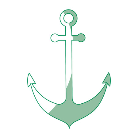 stability: Anchor icon over white background vector illustration Illustration