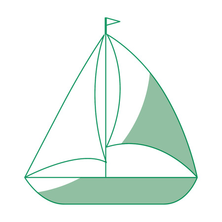 Sailboat icon over white background vector illustration