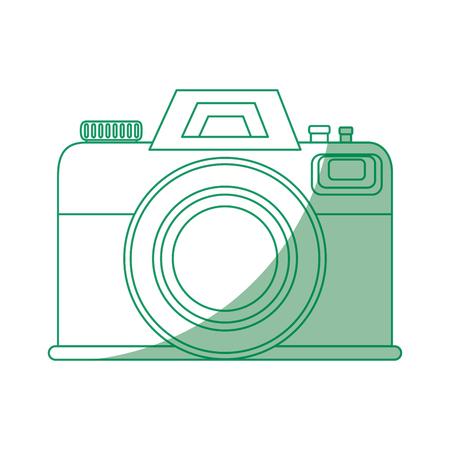 Fotografische Kameraikone über weißer Hintergrundvektorillustration Standard-Bild - 80872584