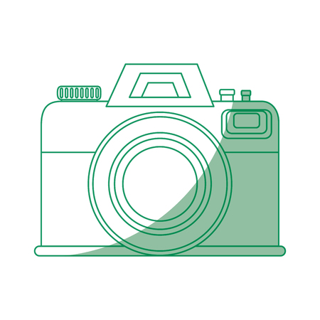 Photographic camera icon over white background vector illustration Ilustracja