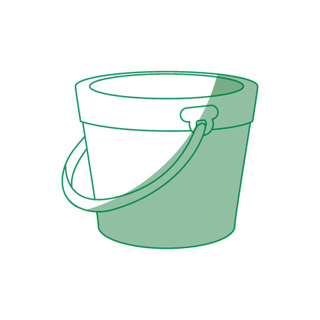 Bucket icon over white background vector illustration