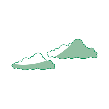 Cloud icon over white background vector illustration Ilustração