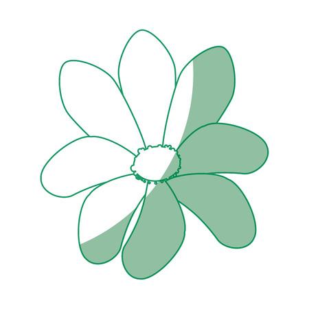 Flower icon over white background vector illustration