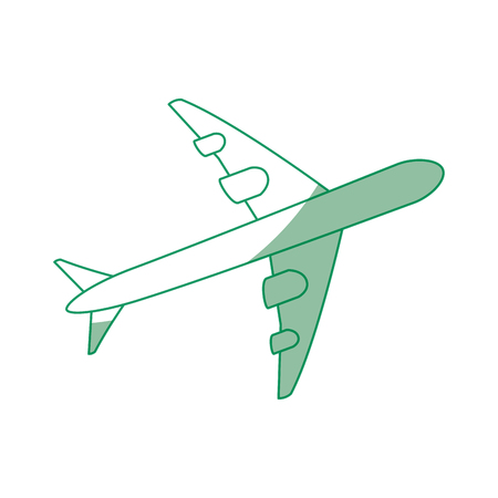 白い背景のベクトル図に飛行機アイコン