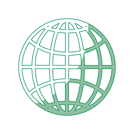 Global sphere icon over white background vector illustration