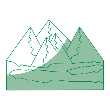 Mountains icon over white background vector illustration