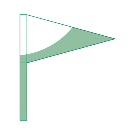 白い背景のベクトル図の上の旗のアイコン