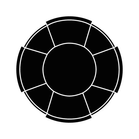 흰색 배경 벡터 일러스트 레이 션 위에 안전 float 아이콘