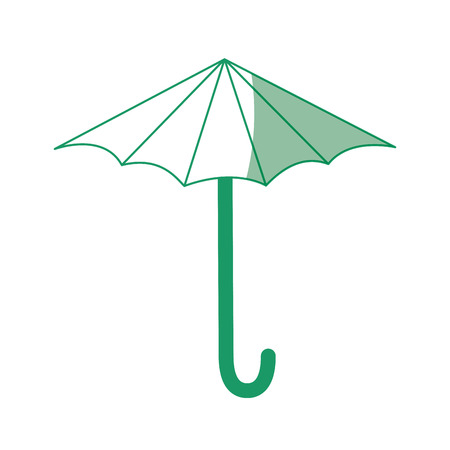 Paraplu pictogram over witte achtergrond vectorillustratie