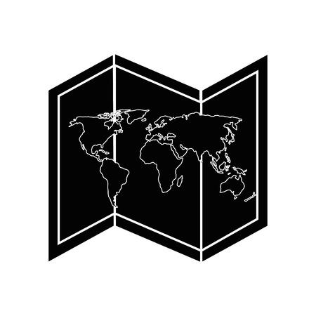 白い背景のベクトル図を世界地図アイコン