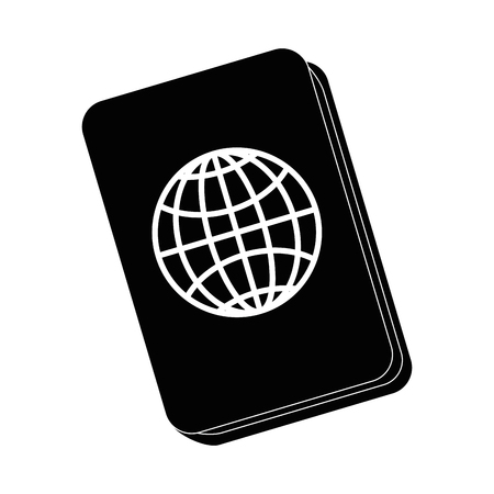 country: Passport icon over white background vector illustration