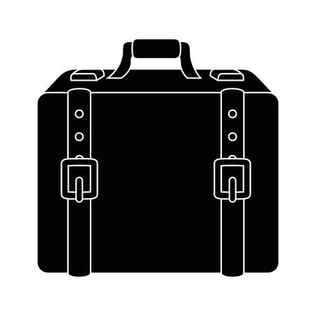 Icono de maleta de viaje sobre ilustración de vector de fondo blanco Foto de archivo - 80871390