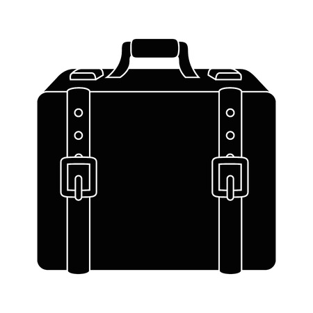 Reizen koffer pictogram over witte achtergrond vectorillustratie