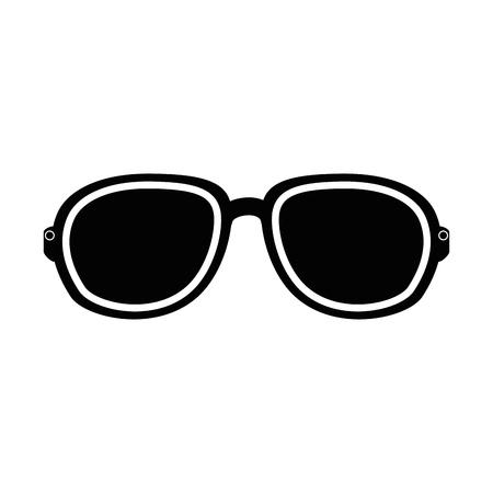 Sunglasses icon over white background vector illustration Illustration