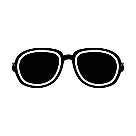 Sunglasses icon over white background vector illustration Иллюстрация
