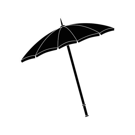 Strand parasol pictogram op witte achtergrond vector illustratie