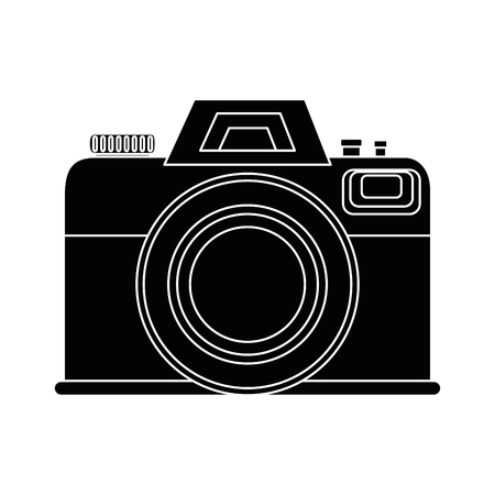 Photographic camera icon over white background vector illustration 向量圖像