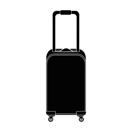 Travel suitcase icon over white background vector illustration