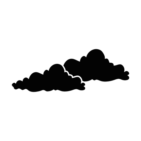 흰색 배경 벡터 일러스트 레이 션을 통해 구름 아이콘