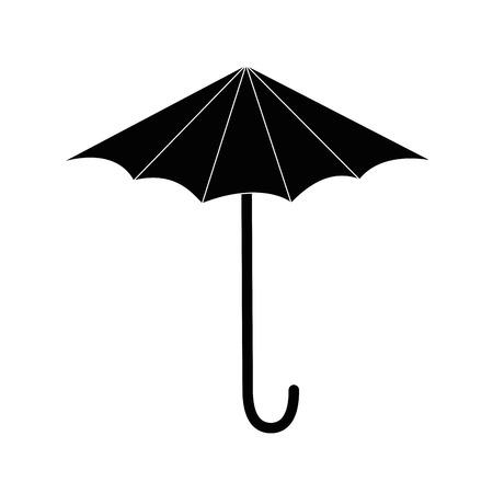 Icona ombrello su sfondo bianco illustrazione vettoriale Archivio Fotografico - 80872810
