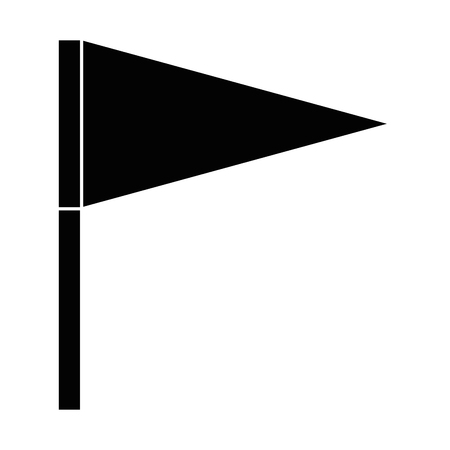 Vlag icoon over witte achtergrond vector illustratie