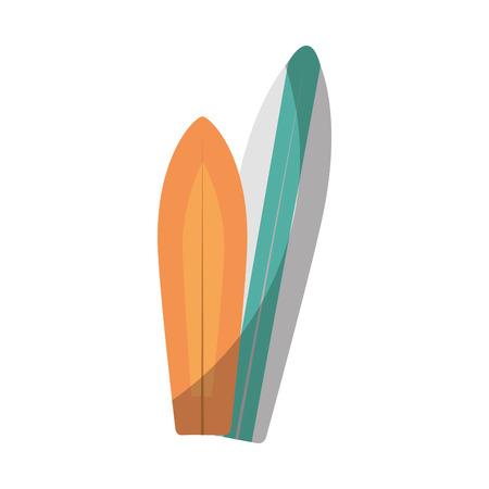surfboards icon over white background vector illustration