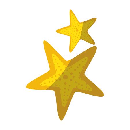 zee sterren pictogram over witte achtergrond vectorillustratie