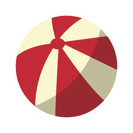 白い背景のベクトル図の上ビーチ ボールのアイコン  イラスト・ベクター素材