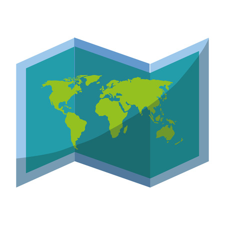 world map icon over white background vector illustration Фото со стока - 80872828