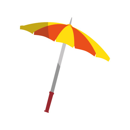 A beach parasol icon over white background vector illustration. Illustration