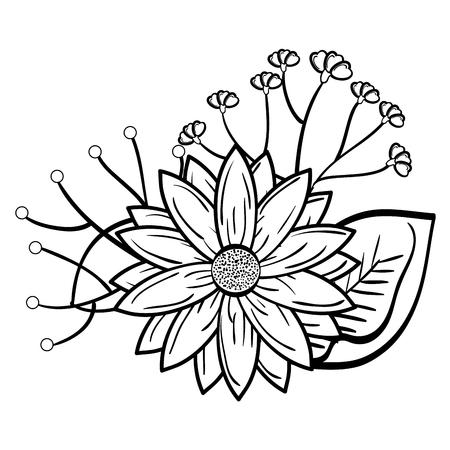 Cute flower decorative icon vector illustration design Çizim