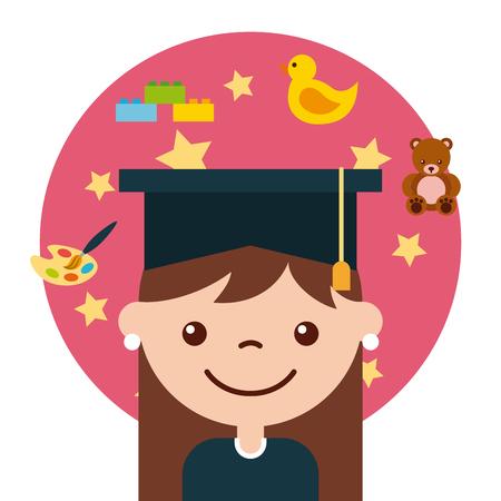 graduate student happy icon vector illustration design graphic